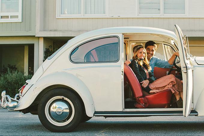 Excellent Vintage VW Bug Engagement Session | Glamour & Grace GT83